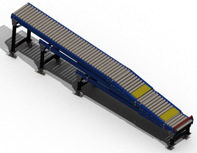 TRC Curved Gravity Roller Conveyors